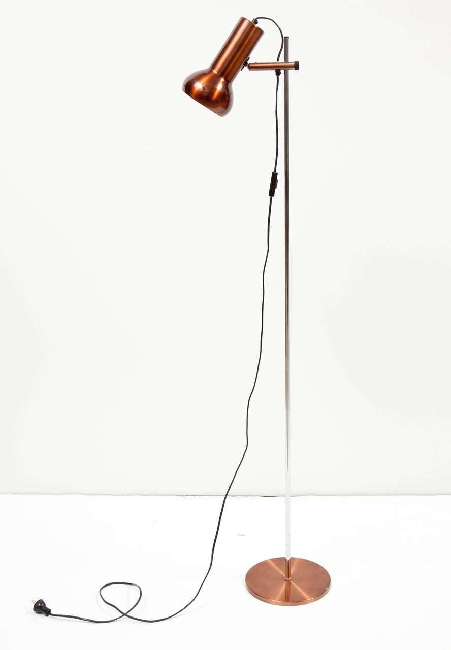 Danish Copper Floor Lamp 6