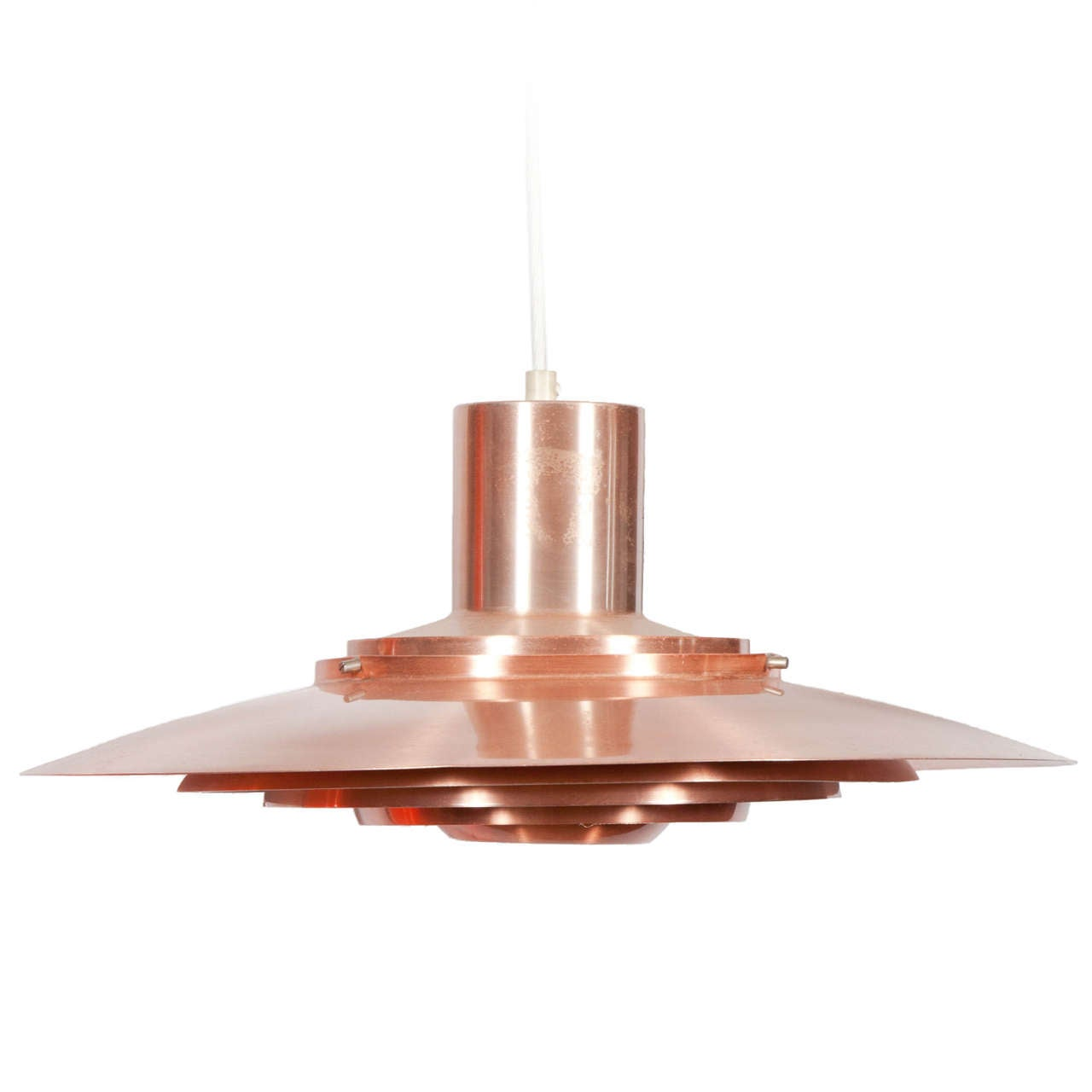 copper pendant lamp by fabricius and kastholm 1