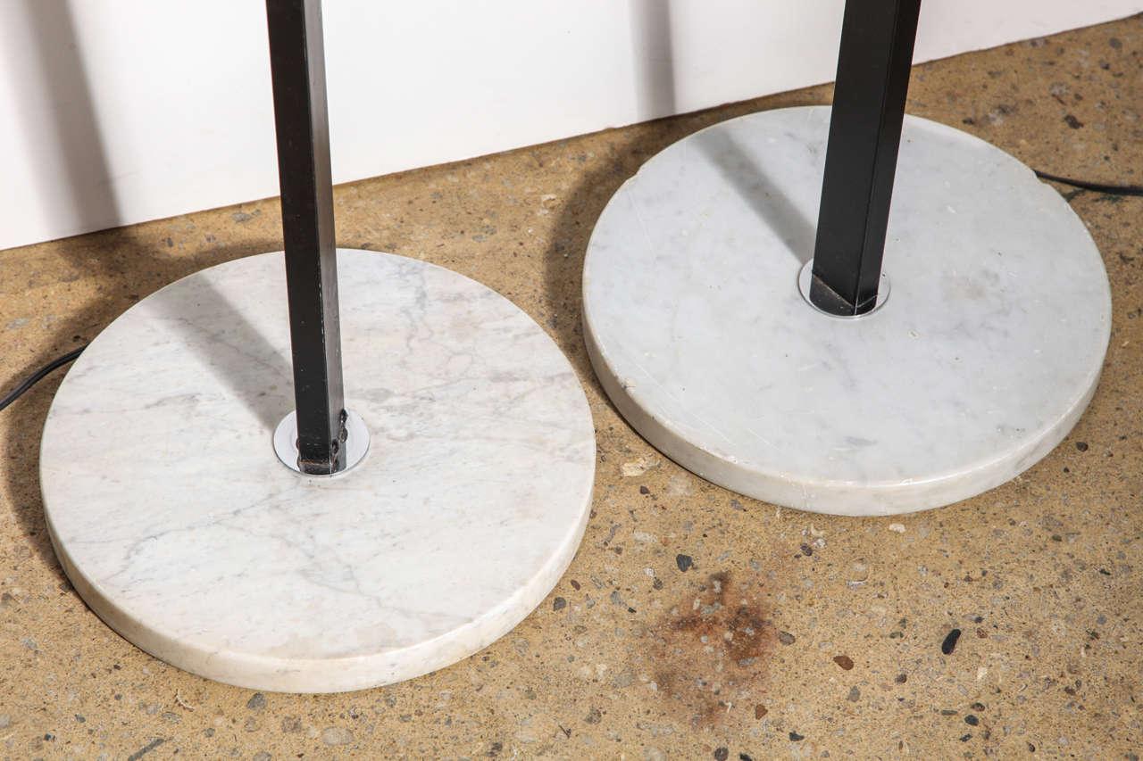 Mid-20th Century Pair of Angelo Lelli for Arredoluce Adjustable Chrome Eyeball Floor Lamps For Sale