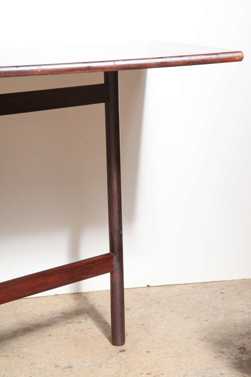 compact folding danish rosewood drop leaf dining table at 1stdibs