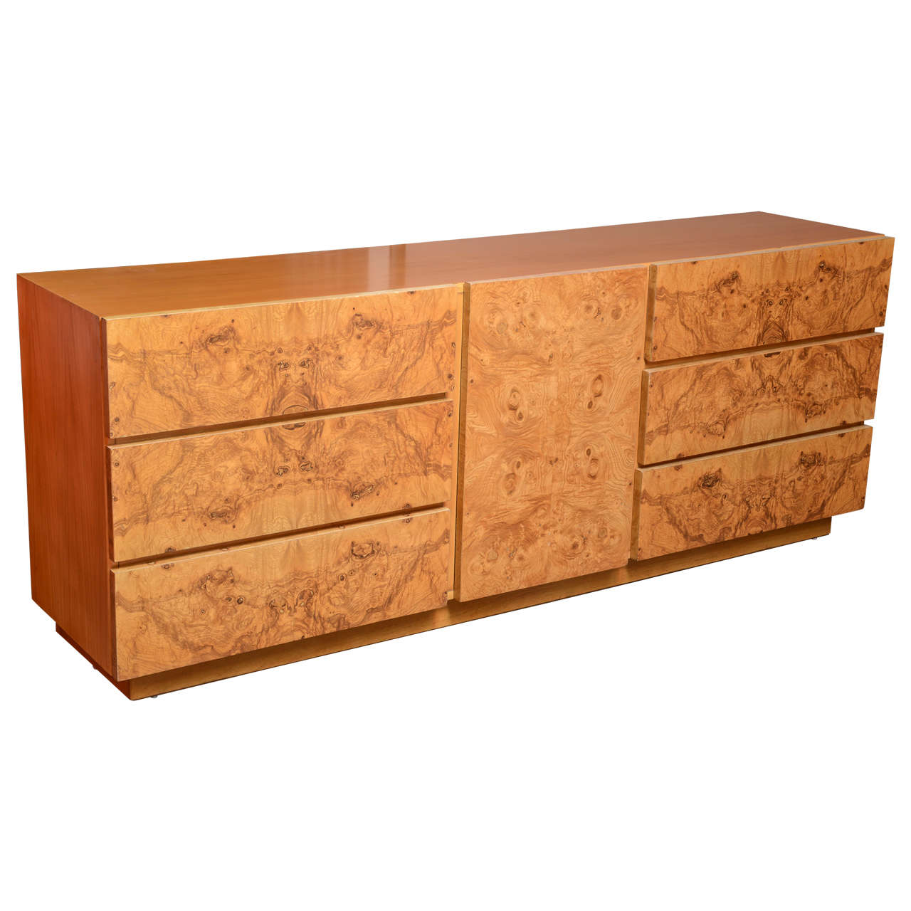 1970s Wood Furniture ~ Burl wood dresser by milo baughman for lane usa s at