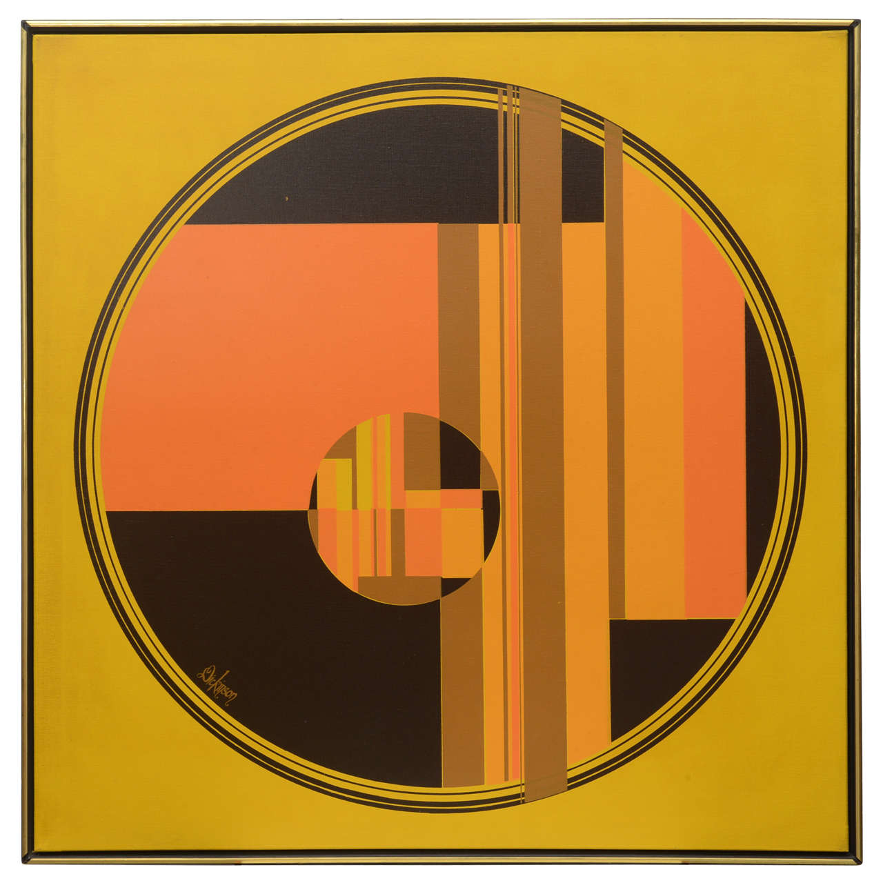 Dickinson Abstract Painting, 1960s, USA