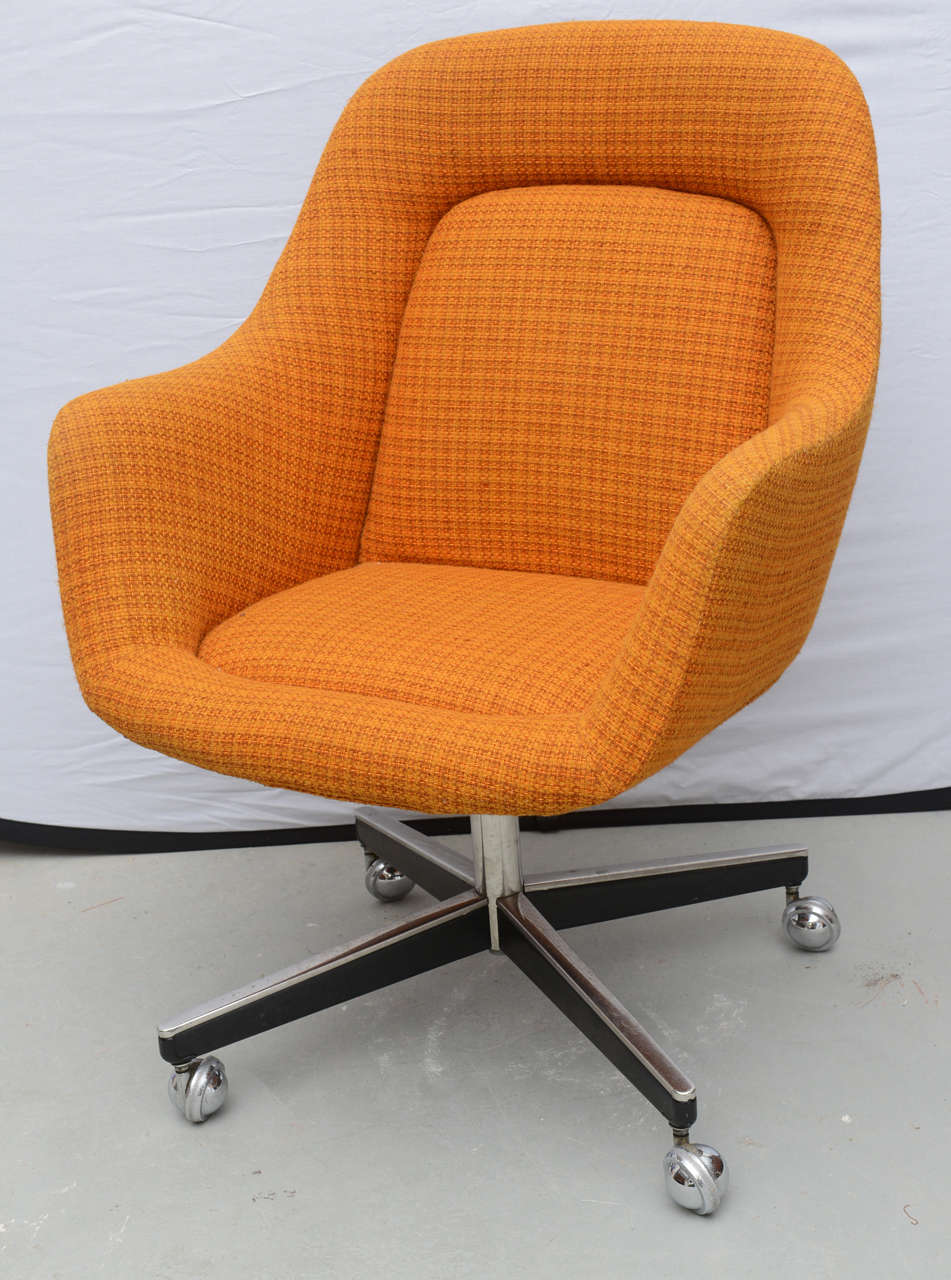 max pearson for knoll oversized roller chairs, 1970s at 1stdibs