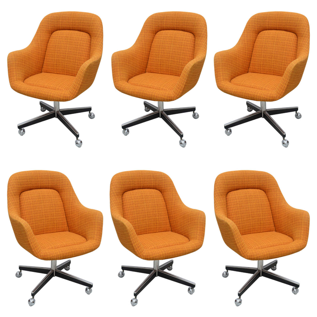 Max Pearson For Knoll Oversized Roller Chairs, 1970s For Sale