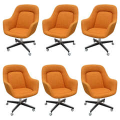 Max Pearson for Knoll Oversized Roller Chairs, 1970s