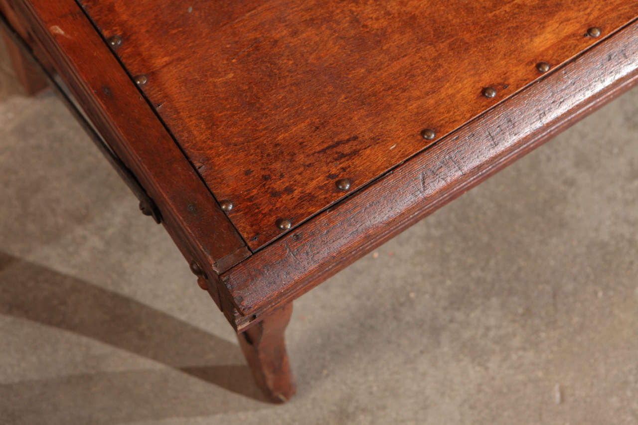 Schoolhouse American Folding School Bench, circa 1920s For Sale