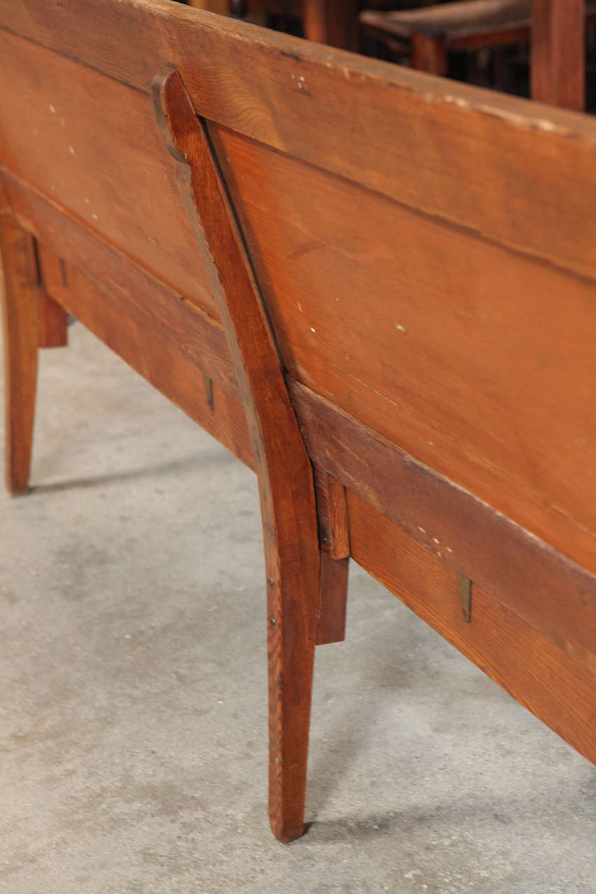 American Folding School Bench, circa 1920s For Sale 2