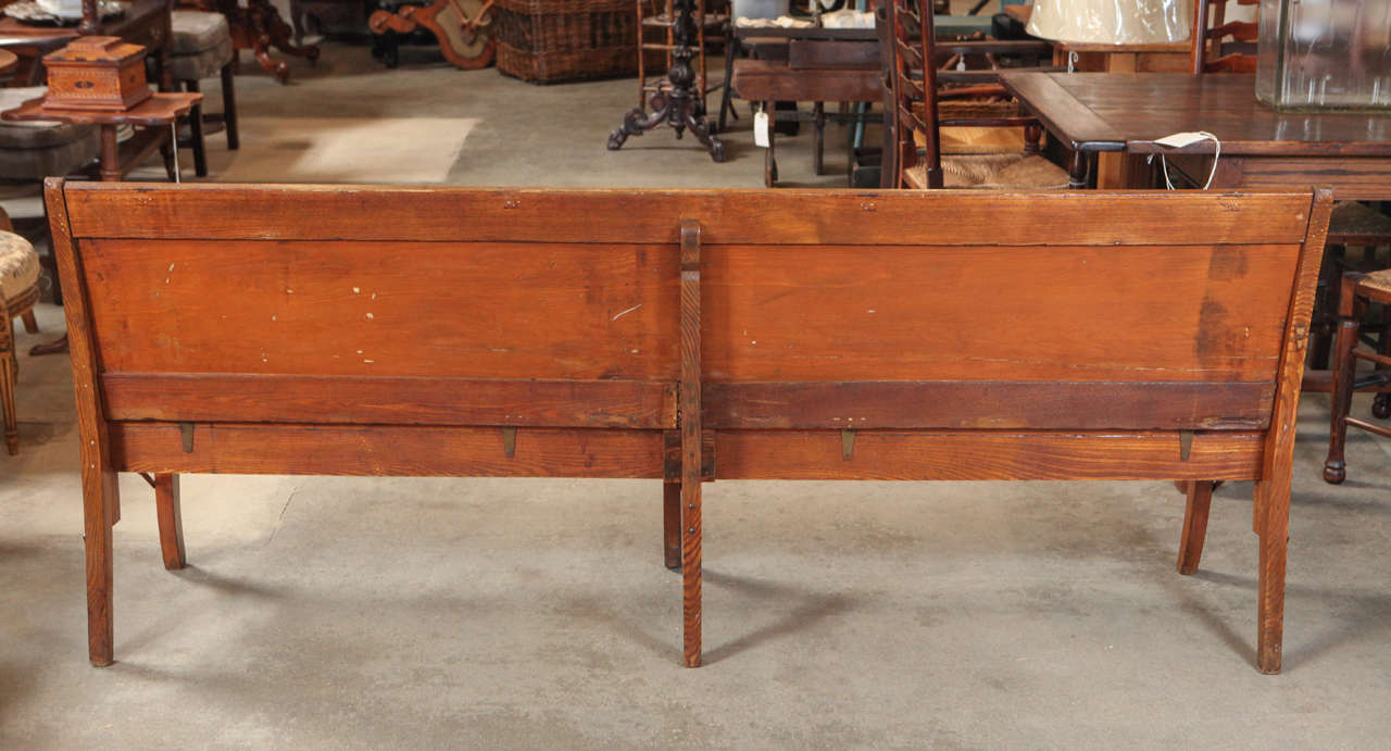 American Folding School Bench, circa 1920s For Sale 4