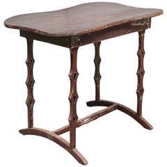 Unique American Folk Art Table, circa 1890s