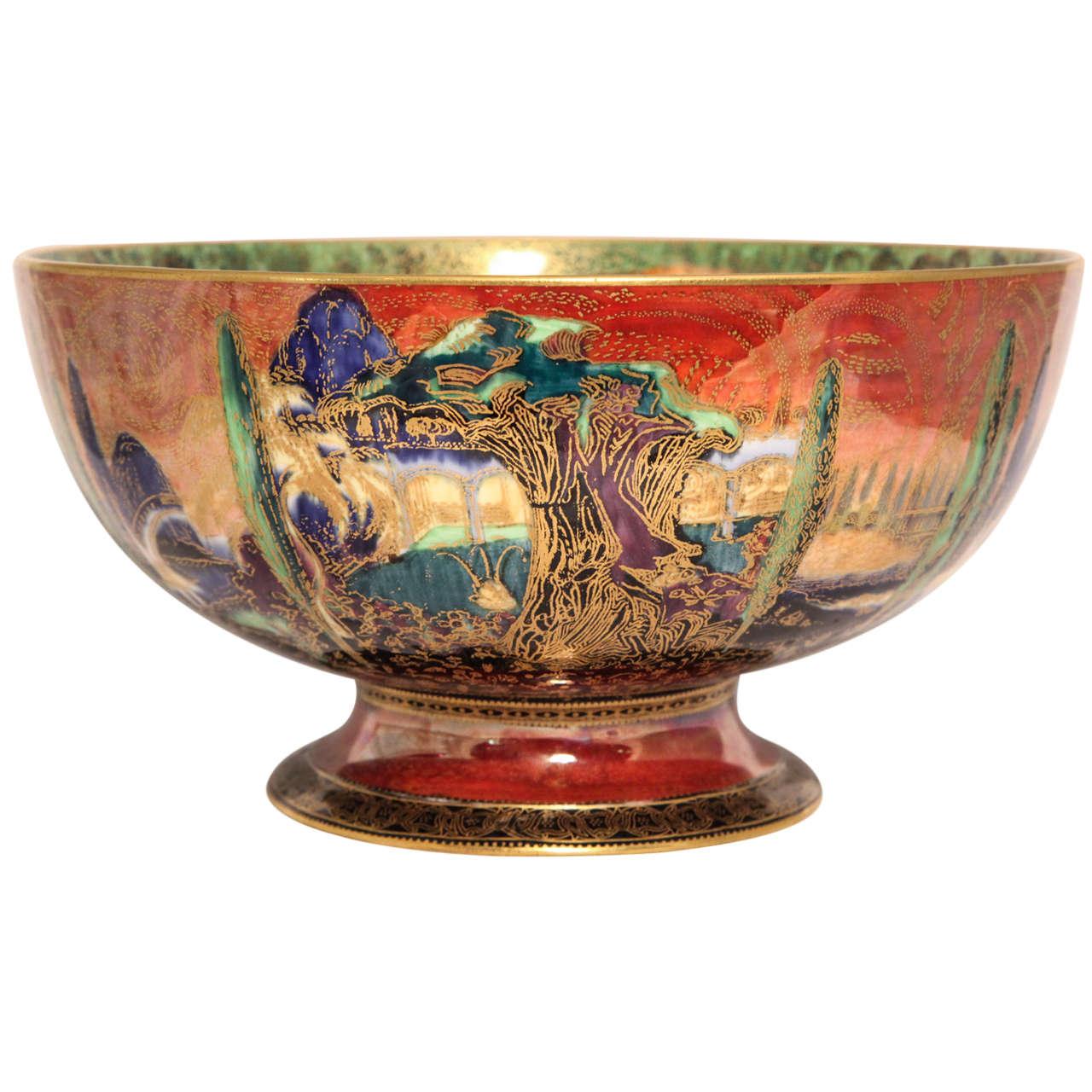 Rare Wedgwood Fairyland Lustre Footed Bowl At 1stdibs