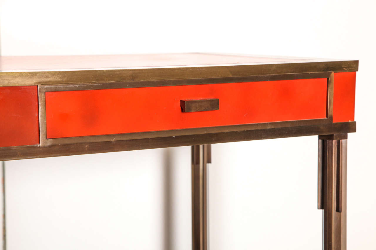 Exceptional Bronze Desk, circa 1960s In Excellent Condition For Sale In Chicago, IL