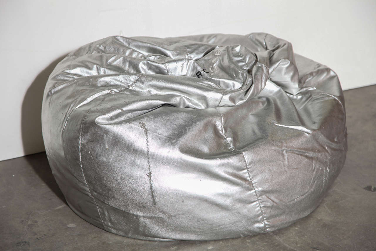 Marc Jacobs Silver Leather Bean Bag At 1stdibs