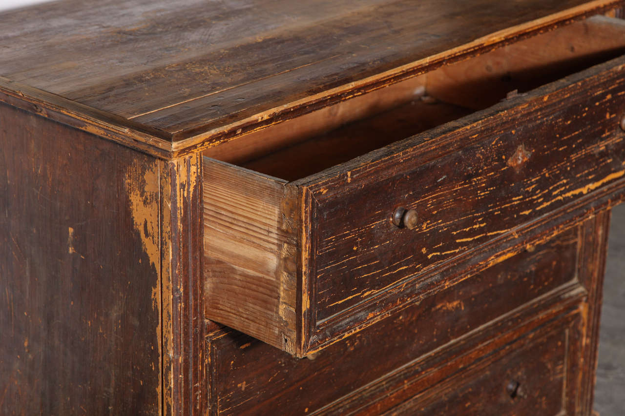 19th Century Belgian Chest of Drawers In Distressed Condition For Sale In Chicago, IL