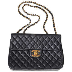 Rare Chanel Quilted Jumbo Flap Bag in Excellent Condition