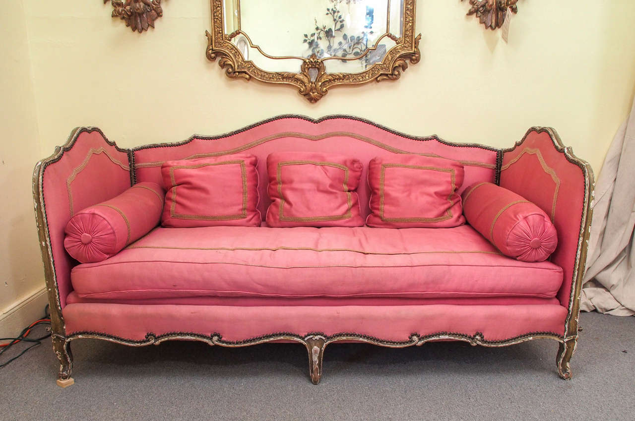 louis xv style lit de repos circa 1920 for sale at 1stdibs. Black Bedroom Furniture Sets. Home Design Ideas