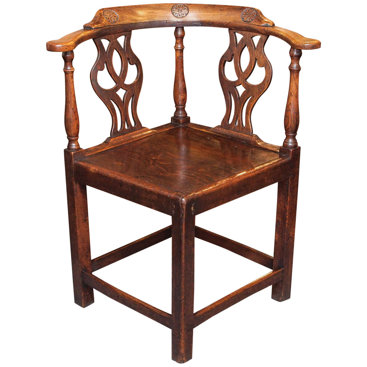 Antique English Corner Chair At 1stdibs