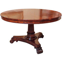 Antique English Round Centre Table