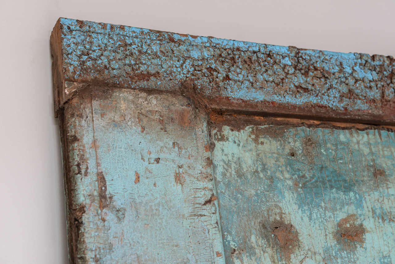 Antique Door turquoise,  full length   Mirror Insert, Java Enchanting,dramatic For Sale 1