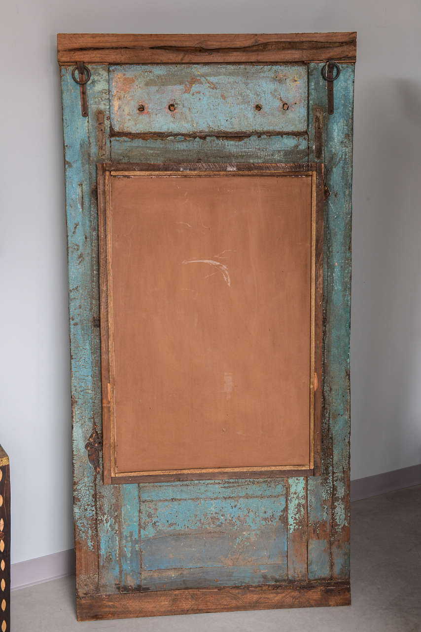Antique Door turquoise,  full length   Mirror Insert, Java Enchanting,dramatic For Sale 4