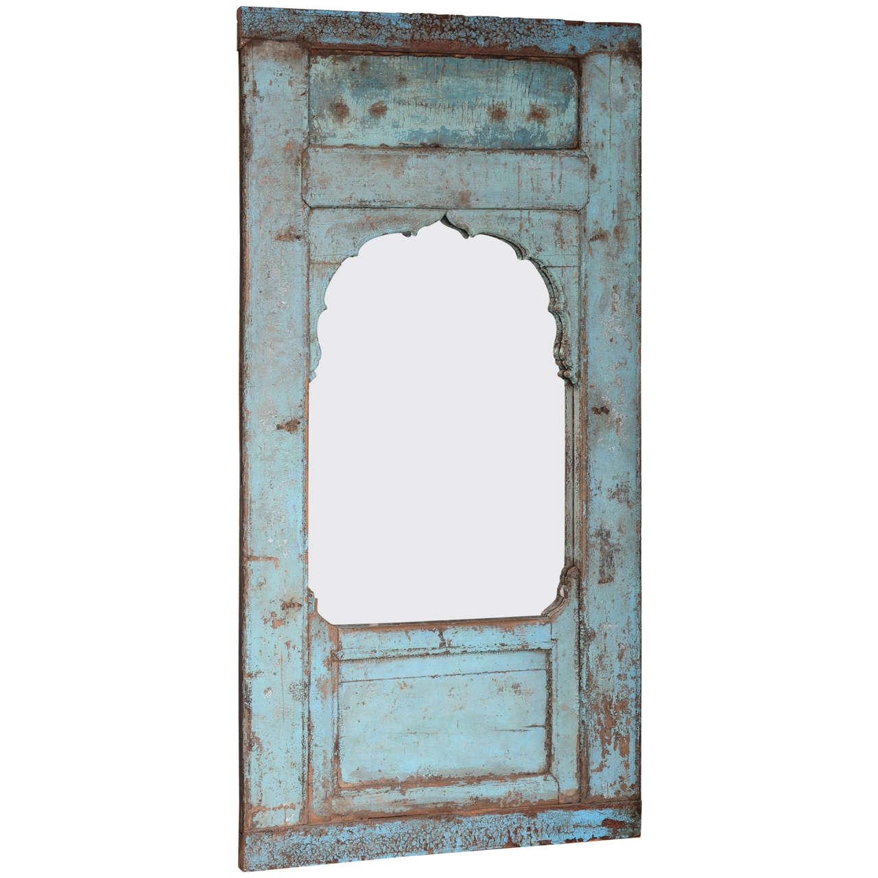 Antique Door turquoise,  full length   Mirror Insert, Java Enchanting,dramatic For Sale