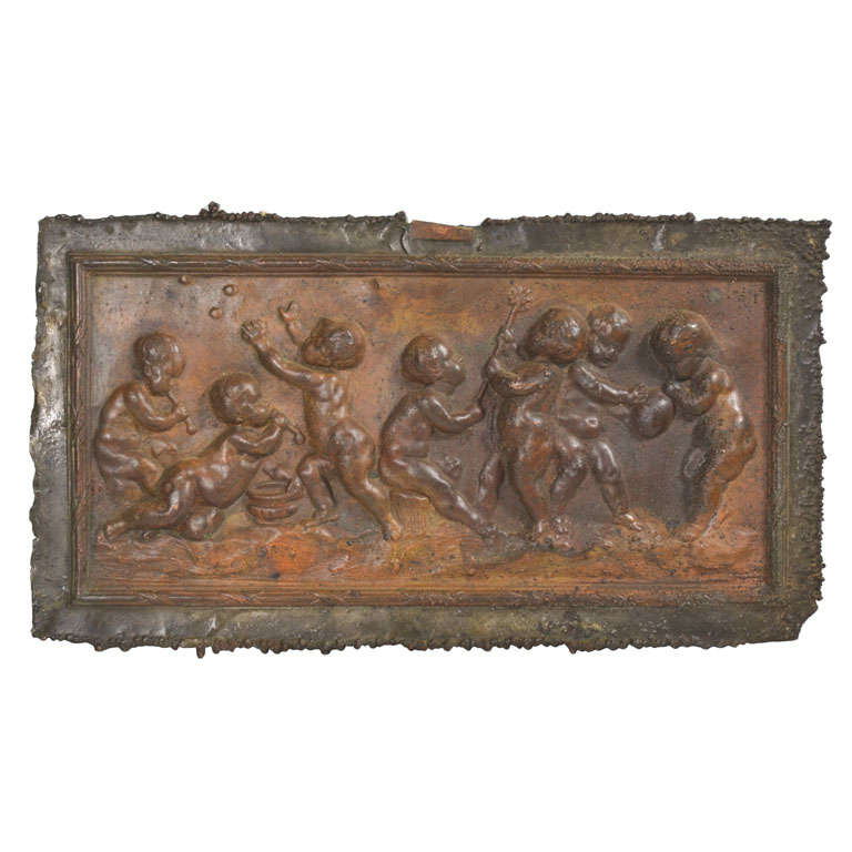 Copper Mold Of Playing Children At 1stdibs