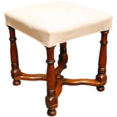 French Upholstered Stool, Circa 1820
