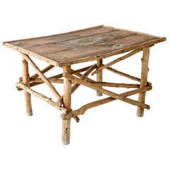 Vintage Twig Side Table