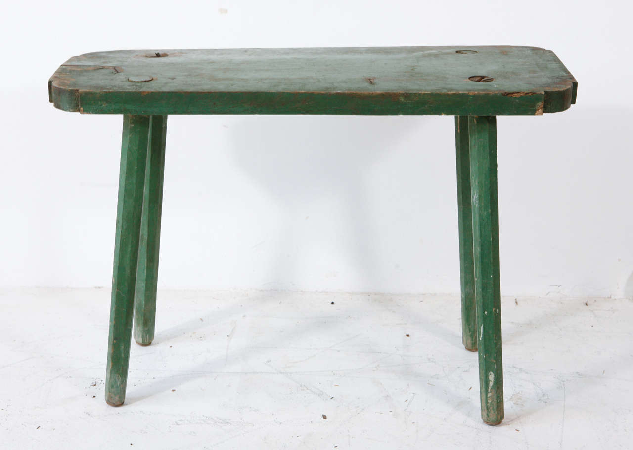 Vintage Small Rectangle Milking Bench 2