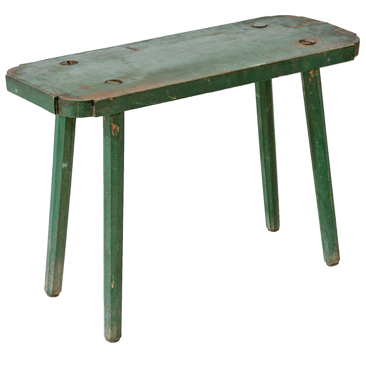 Vintage Small Rectangle Milking Bench 1