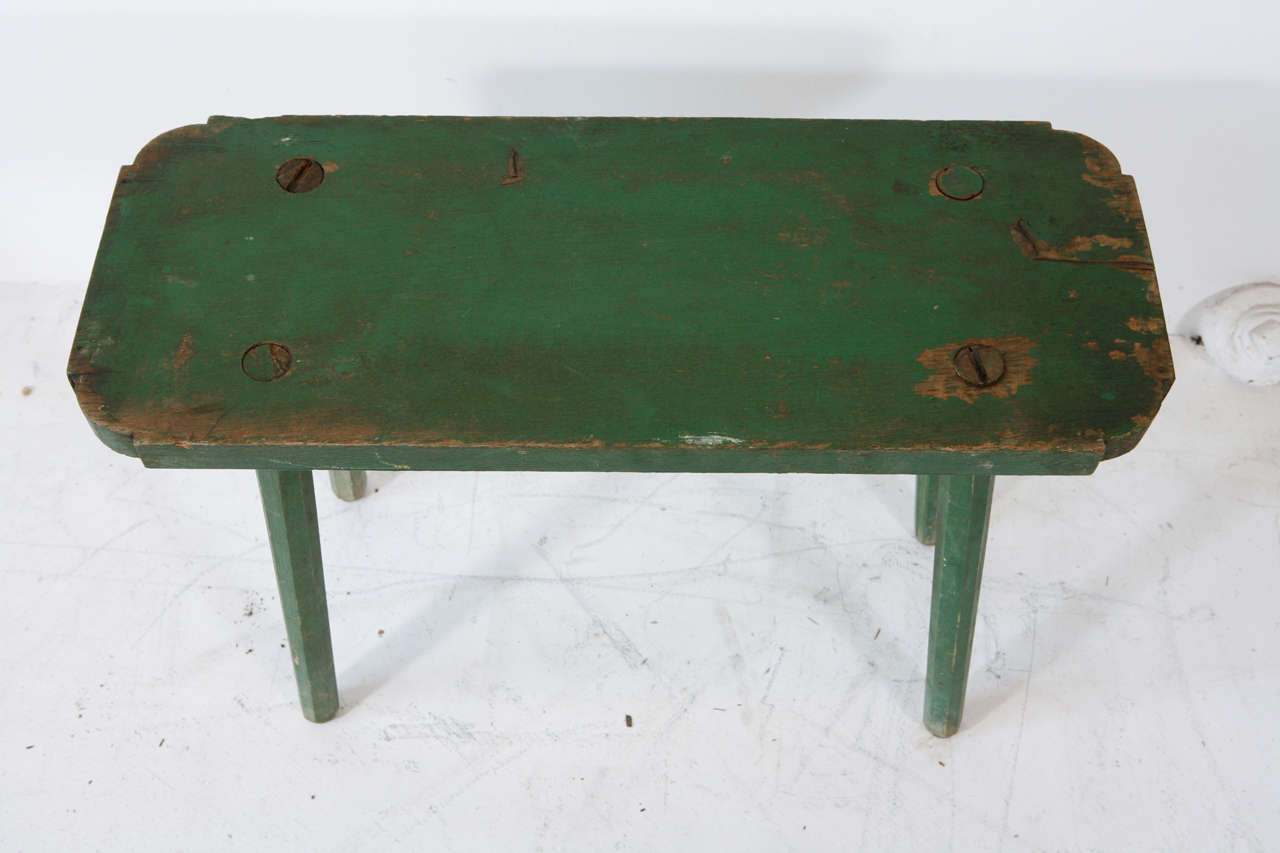 Vintage Small Rectangle Milking Bench 4