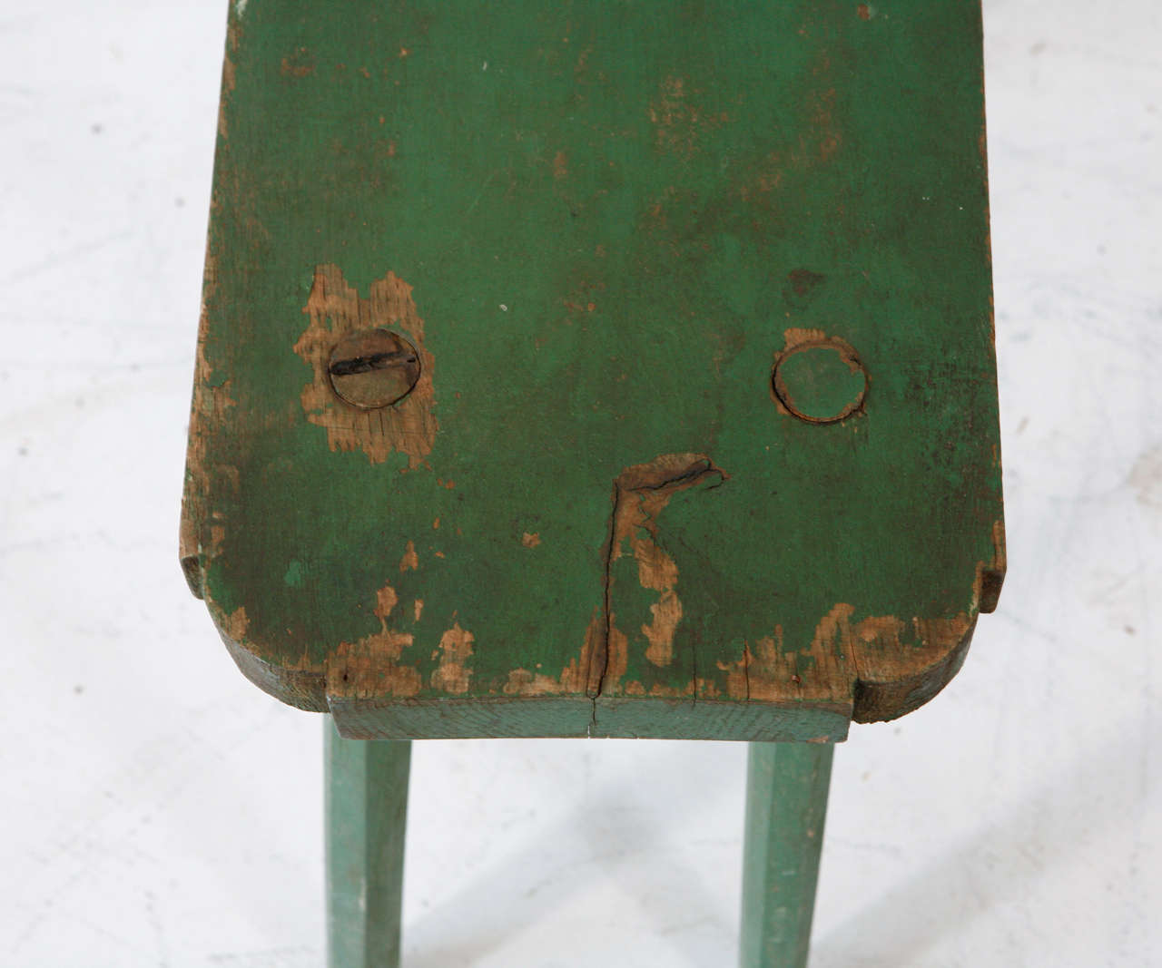 Vintage Small Rectangle Milking Bench 7