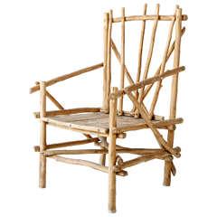 Vintage Twig Arm Chair