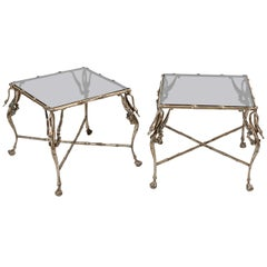 Stylized Pair of End Tables