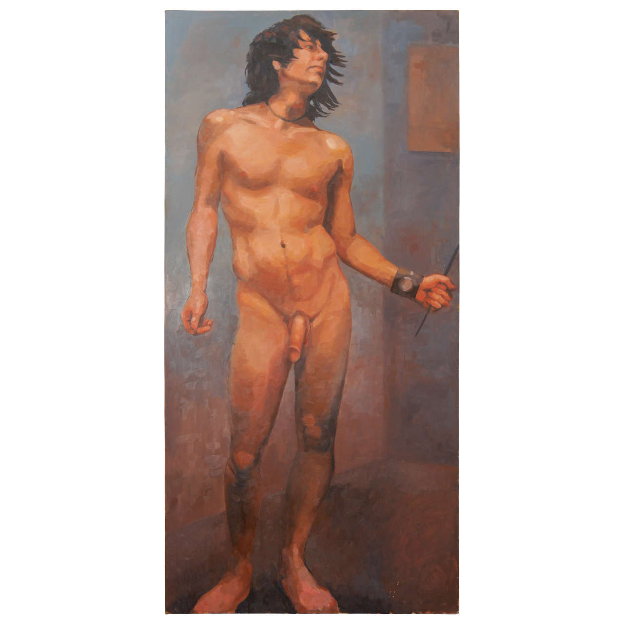 Gay Fetish Xxx  Gay Male Nude Oil Paintings-1522