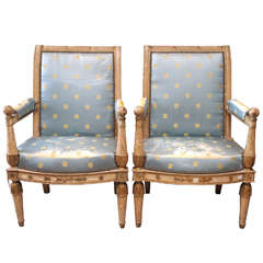 Pair of Exceptional Consulate Armchairs