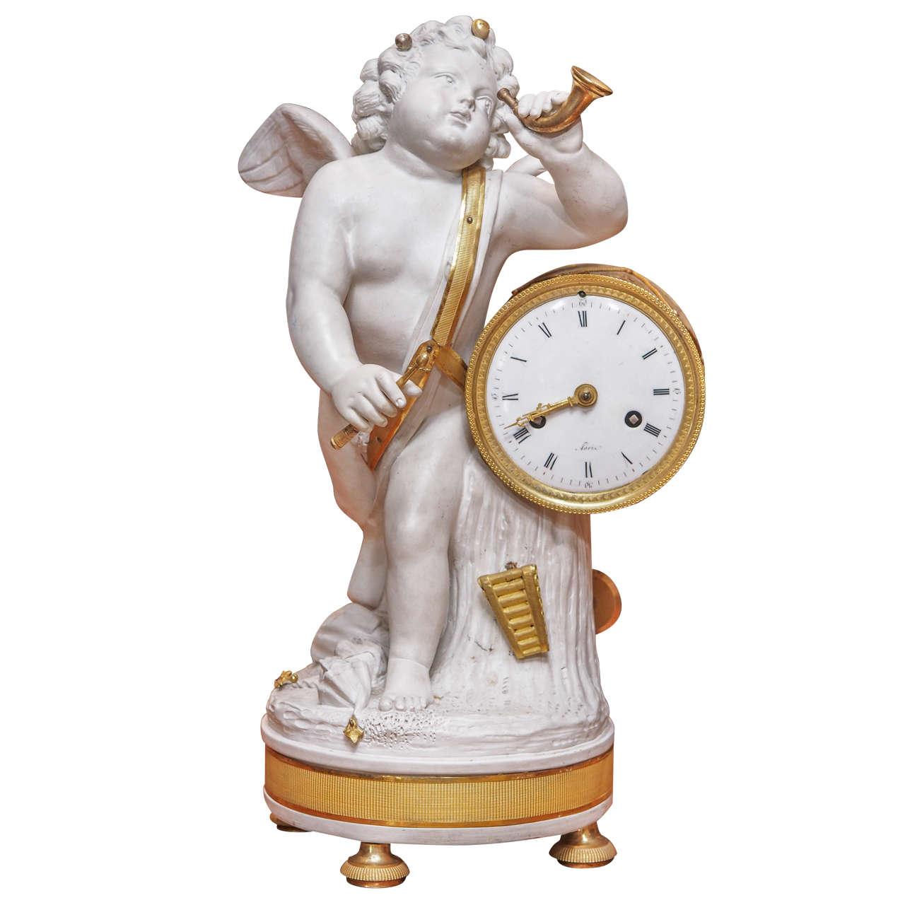 Napoleon III Bisque Clock