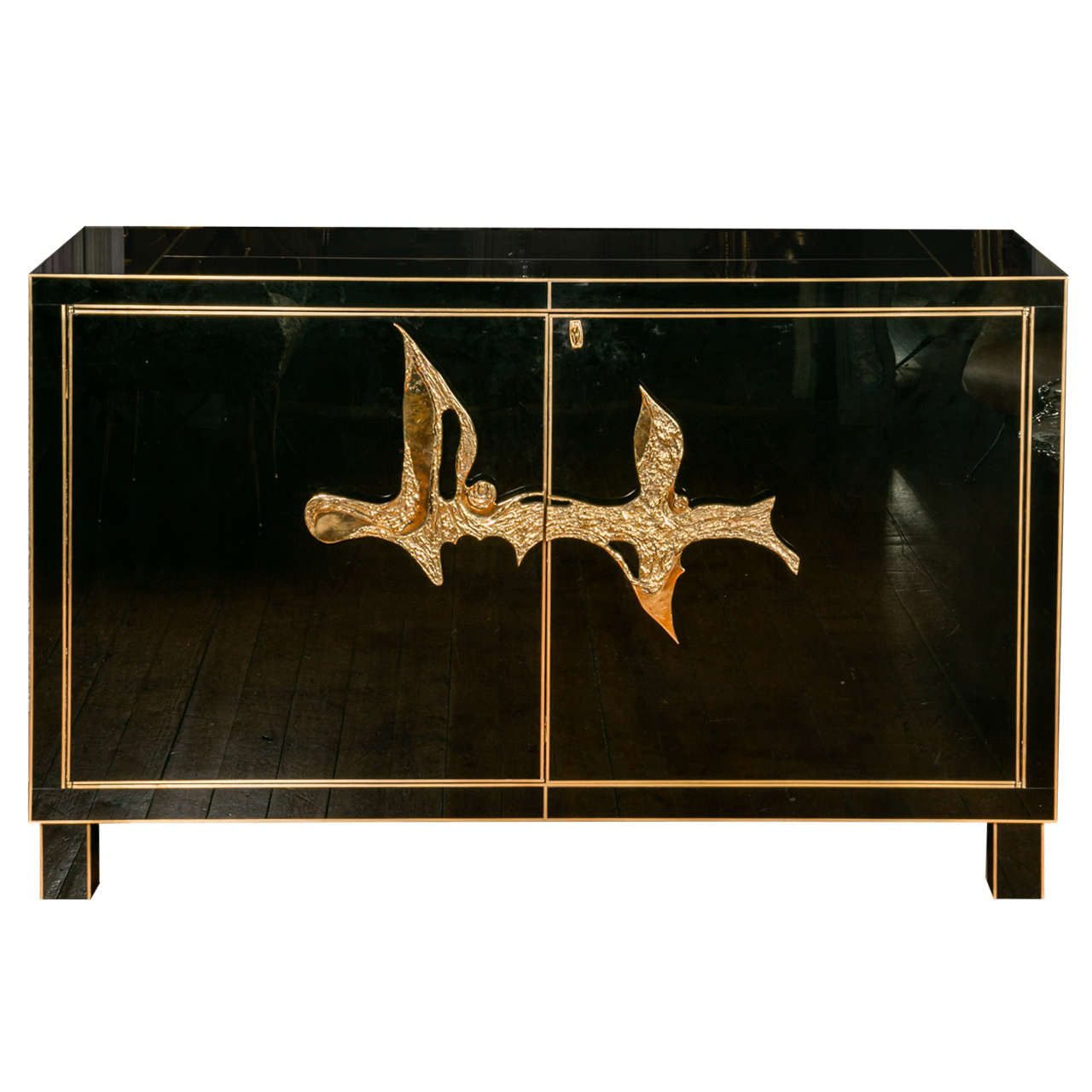 Elegant black glass sideboard at 1stdibs for Sideboard glas