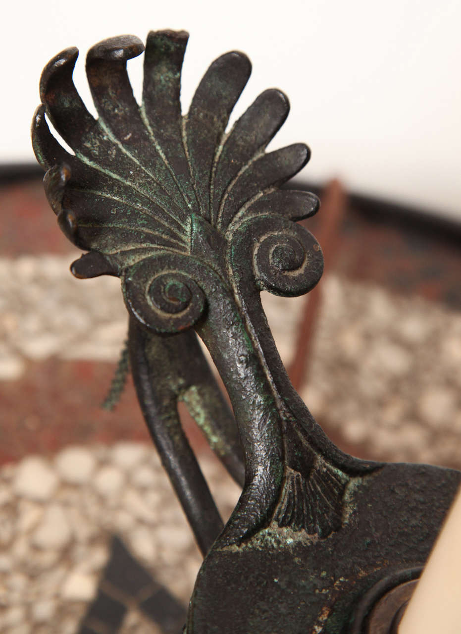 19th Century Roman Style Bronze Lamp Converted to Electric For Sale 3
