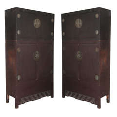 Pair Of Massive !8th C. Chinese Cabinets