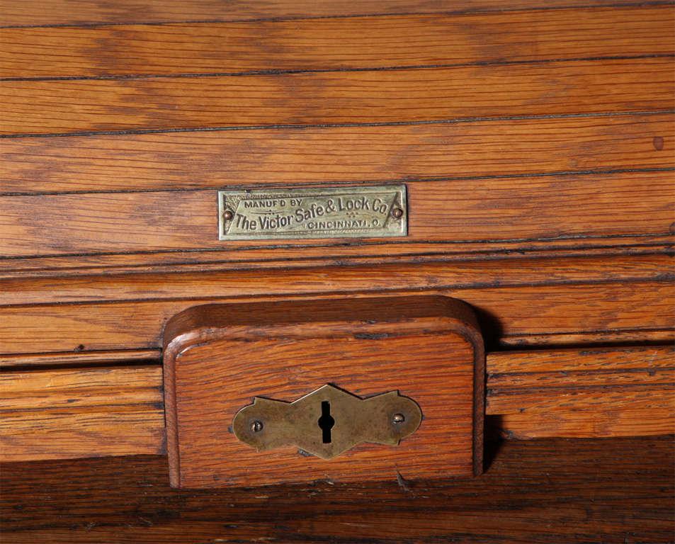 Victor Safe And Lock Oak Roll Top Desk For Sale At 1stdibs