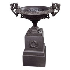 Rare Fiske Cast Iron Statement Urn on Plinth