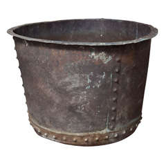 Enormous Hand-Riveted Copper Tub