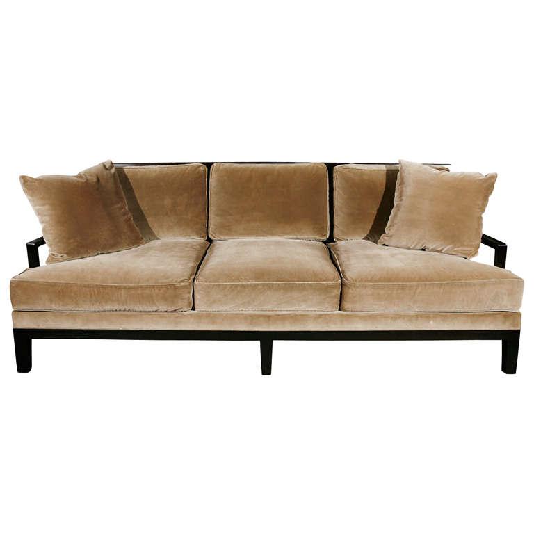 Christian Liaigre Sofa Upholstered In Silk Velvet At 1stdibs