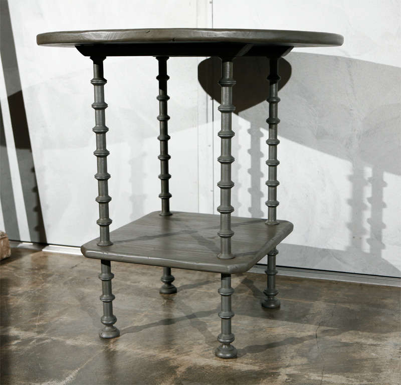 Antique center table with spool turnings as legs at 1stdibs for Center table legs
