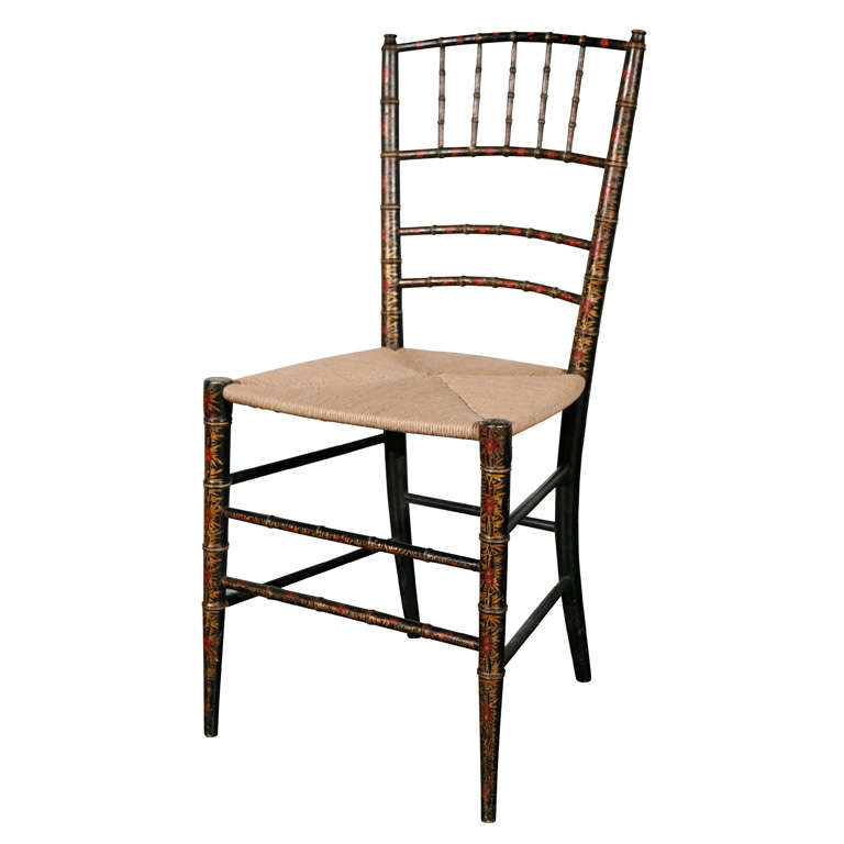 Antique 19th Century Faux Bamboo Chair For Sale - Antique 19th Century Faux Bamboo Chair For Sale At 1stdibs