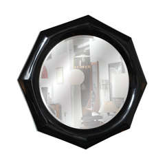 Marcius Octagonal Black Lacquer Mirror