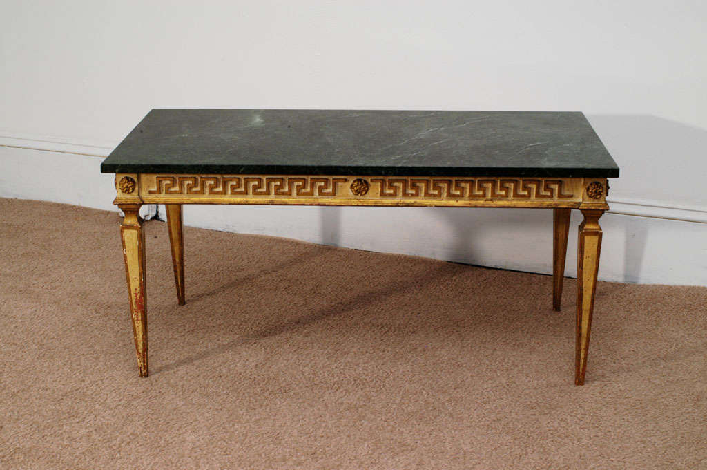 Marble Top Neoclassic Coffee Table For Sale At 1stdibs