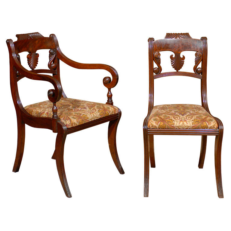 Set of Six Regency Dining Chairs