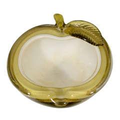 Barbini Vintage Apple Murano Dish