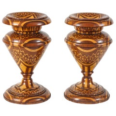 Remarkable Marquetry Garniture